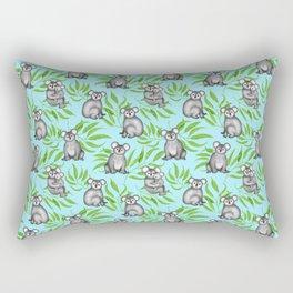 Koala Pattern Charitable Art (Blue Background) Rectangular Pillow