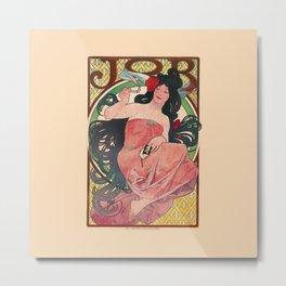 Alphonse Mucha Job Rolling Papers Art Nouveau Woman Metal Print