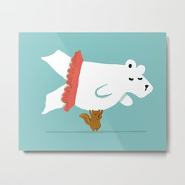 You Lift Me Up - Polar bear doing ballet Metal Print