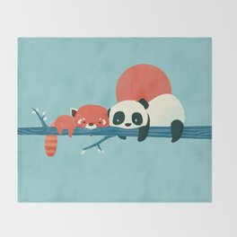 Pandas Throw Blanket