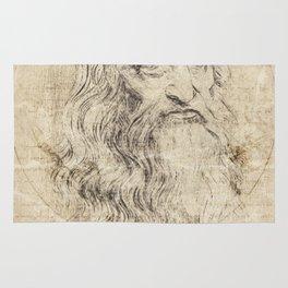 Da Vinci Quote Rug