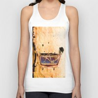 bathroom Tank Tops featuring Monsieur Bone in the bathroom by Ganech joe