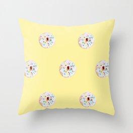 Sunshine Donuts Throw Pillow