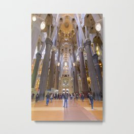Inside the Sagrada Familia Metal Print