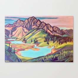 Lyle Lakes Canvas Print