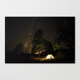 Camping out at Zion National Park's West Rim Trail at about 7,000 feet. 4 Canvas Print