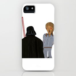 Edvard Munch I am your father iPhone Case