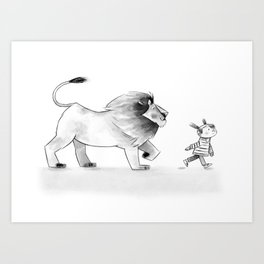 Nora and Hank Take a Walk Art Print