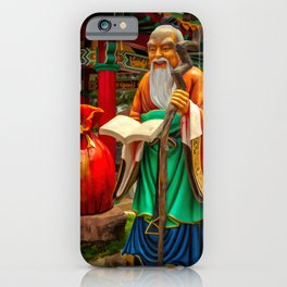 Yue Lao Statue iPhone Case