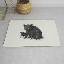 Black Bear Family Rug