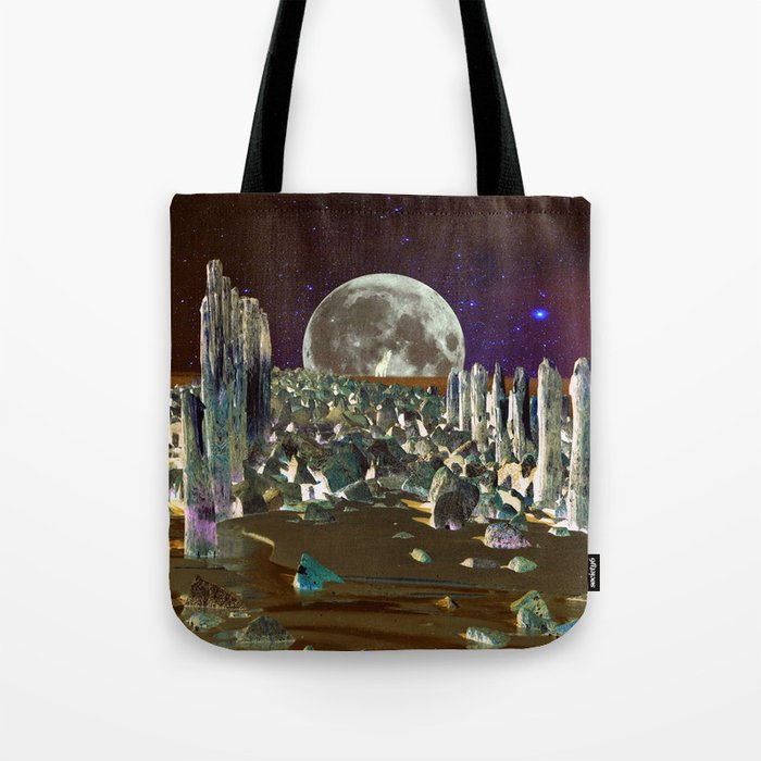 wolf moon nigth Tote Bag