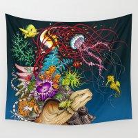 return Wall Tapestries featuring Return To The Sea by TAOJB