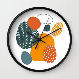 Abstract Easter Eggs Wall Clock