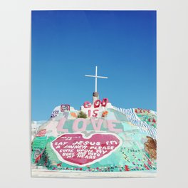 Salvation Mountain in the Californian Desert Poster