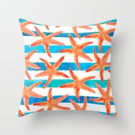 Starfish Tropics Throw Pillow