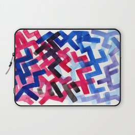 Colorful Watercolor Painting Pattern African tribal Pattern Abstract Art Mid Century Modern Laptop Sleeve