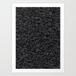 Dried grapes. Background. Art Print