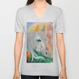 You and me - Horses - Animal - by LiliFlore Unisex V-Neck
