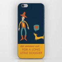 dachshund iPhone & iPod Skins featuring Dachshund by Ariel Wilson