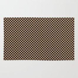 Iced Coffee and Black Polka Dots Rug