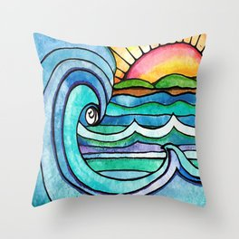 Beachy #society6 #spring #summer Throw Pillow