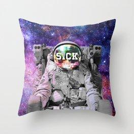 Exploring Space Beauty Throw Pillow