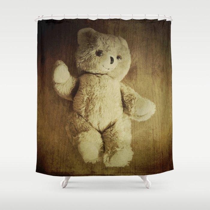 Old Teddy Bear Shower Curtain
