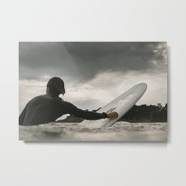 Surf grey photo Metal Print