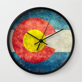 Colorado State flag, Vintage retro style Wall Clock