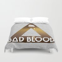 bastille Duvet Covers featuring Bastille #1 Bad Blood by Thafrayer