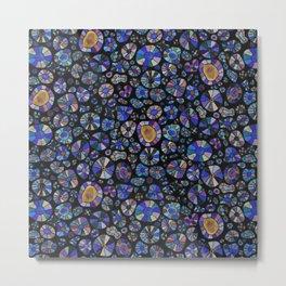 Barca Dots Pattern blue/purple/black Metal Print