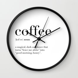 Coffee Definition Wall Clock