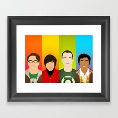 The Big Bang Theory Framed Art Print