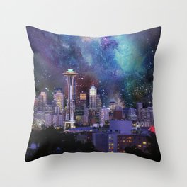 Spacey Seattle Throw Pillow