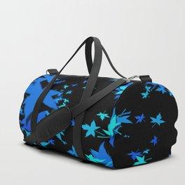 Fall Leaves in Blue Duffle Bag