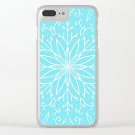 Single Snowflake - Mint Blue Clear iPhone Case
