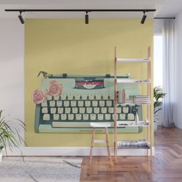 The Typewriter Wall Mural