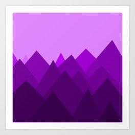 Abstract Purple Alien Landscape Art Print