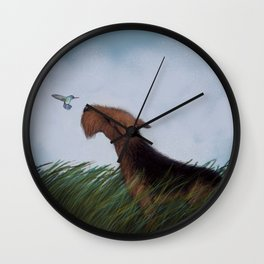 Look What the Wind Blew In! Wall Clock