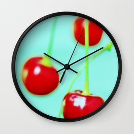 Red cherries Wall Clock