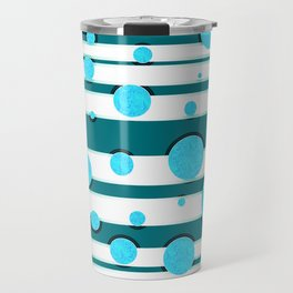 Bubbles in mintgreen, abstract print Travel Mug