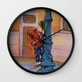 Singing in the rain, the early years Wall Clock