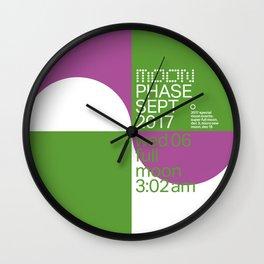 Full Moon - Sept 2017 Wall Clock