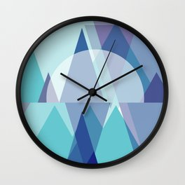Triangles | Frost Cavern Wall Clock