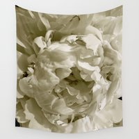 peony Wall Tapestries featuring Peony by Stone Twig Studio