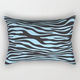 Animal Print, Zebra Stripes - Black Blue Rectangular Pillow