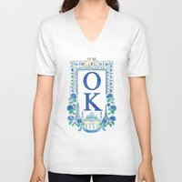 kim sy ok V-neck T-shirts featuring OK by RachelRogers