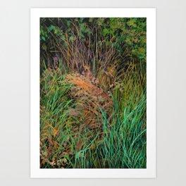 Tangled Grasses Art Print