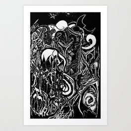 Time and The Reaper Art Print