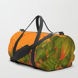 """Plants & Orange Polka Dots"" Duffle Bag"